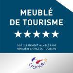 le gite les Combes est classé 5 étoiles Atout France