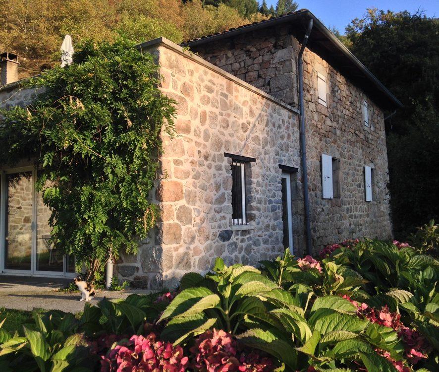 fin de journée au gîte les Combes en Ardèche